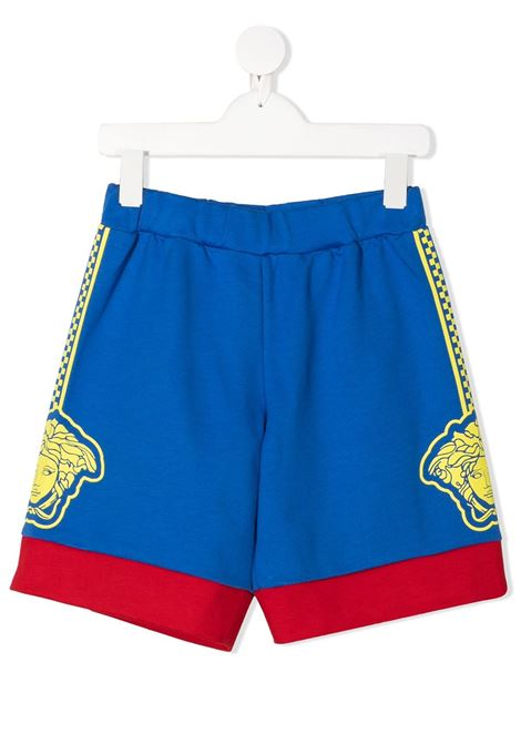 shorts con logo laterale young versace young versace | Shorts | YD000074YA00078A3362