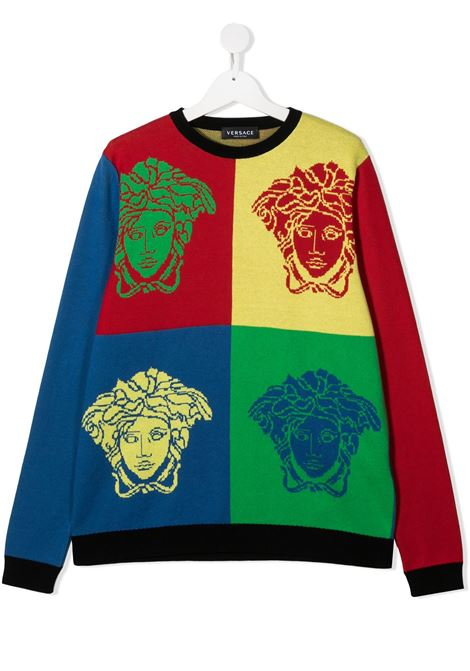 pull multicolor young versace con logo young versace | Maglia | YD000271A236527A7000T