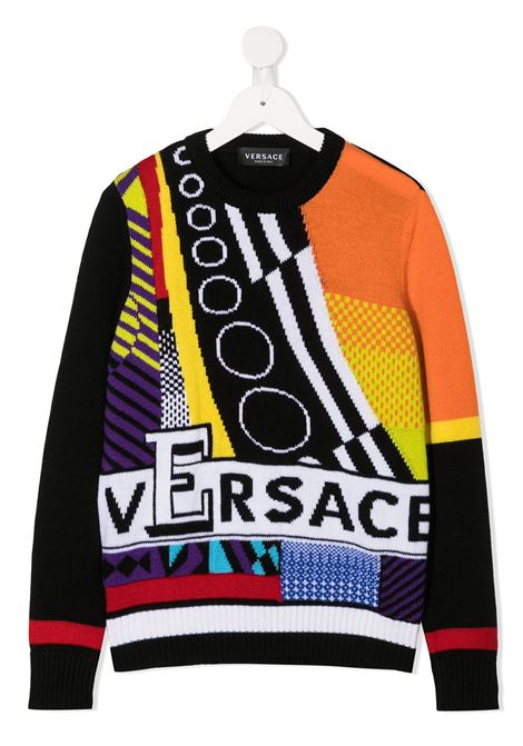 pull multicolor logato young versace young versace | Pull | YD000272A236528A7000