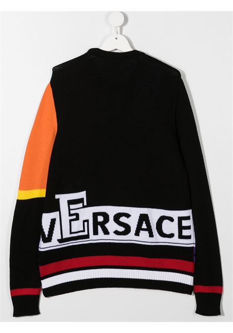 pull multicolor logato young versace young versace | Pull | YD000272A236528A7000T