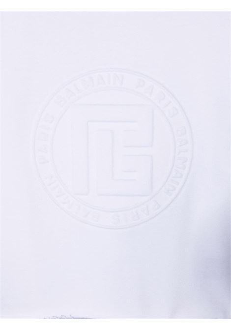 balmain  felpa con logo a rilievo Balmain | Felpa | 6P4040F0015100T