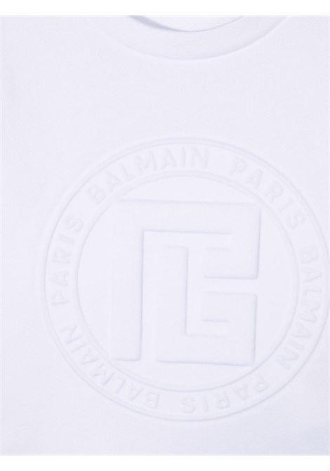 balmain felpa con logo a rilievo Balmain | Felpa | 6P4040F0015100