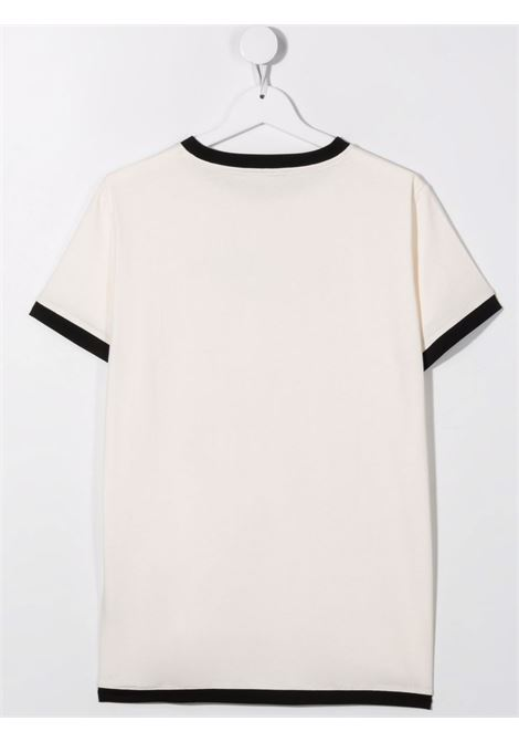 balmain tshirt con stampa e riporti Balmain | Tshirt | 6P8551Z0003112NET