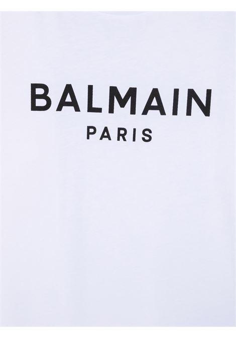 balmain  tshirt stampa logo Balmain | Tshirt | 6P8701Z0003100NET