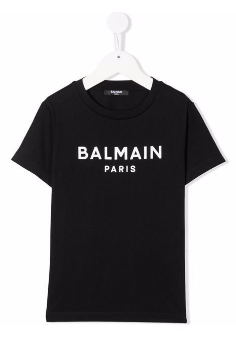 balmain  tshirt stampa logo Balmain | Tshirt | 6P8701Z0003930BC