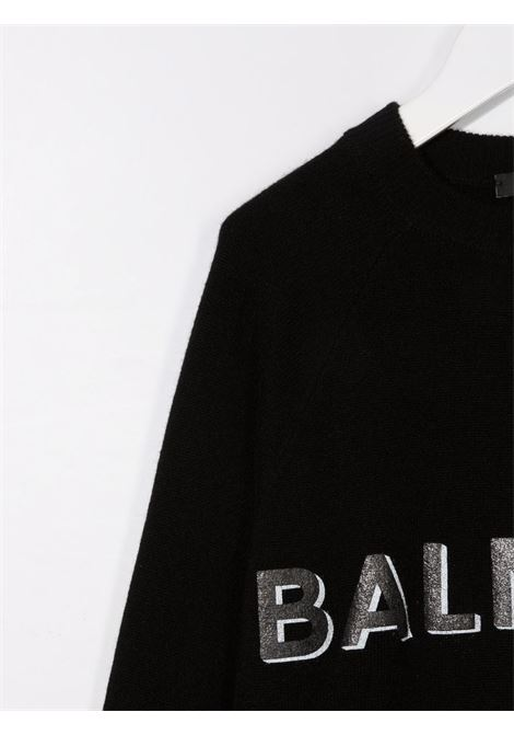 balmain maglia lana sottile con stampa logo Balmain | Maglia | 6P9580W0029930