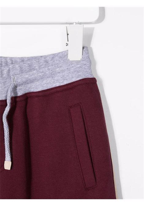 brunello cucinelli pantaloni in felpa  con banda laterle Brunello Cucinelli kids | Pantalone | BM810E306CW248