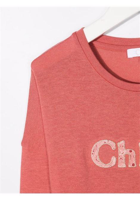 chloe tshirt con logo CHLOE' | Tshirt | C15D2144V