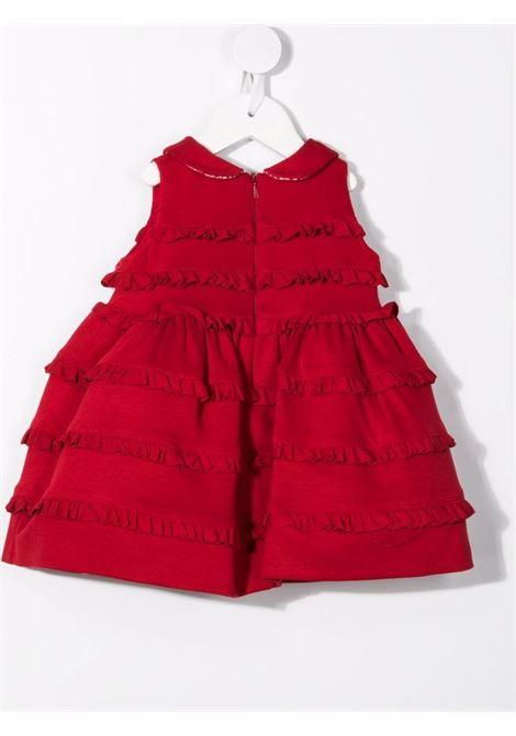 monnalisa abito con mini rouches e fiocco MONNALISA BEBE | Abito | 31891182070043