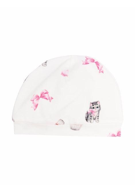 monnalisa cappello interlock con stampa gattini MONNALISA BEBE | Cappello | 3580018021192C