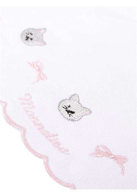 monnalisa bavetta cotone stampa gattino MONNALISA BEBE | Bavetta | 3580098070192C