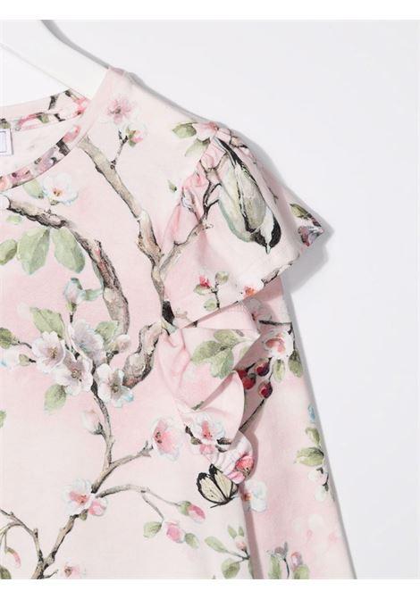 monnalisa abito jersey stampa fiori di pesco MONNALISA | Abito | 11890186530091