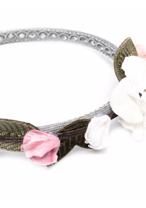 monnalisa cerchietto punto milano con fiori MONNALISA | Cerchietto | 19800282070032