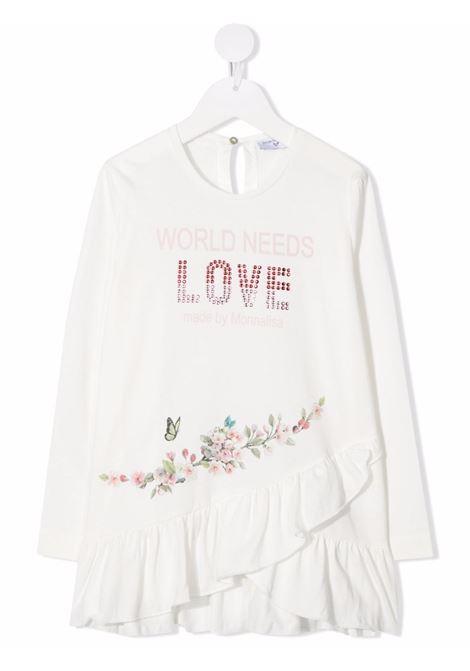 monnalisa maxi tshirt con galetta MONNALISA | Maxi t shirt | 198613SL80020001