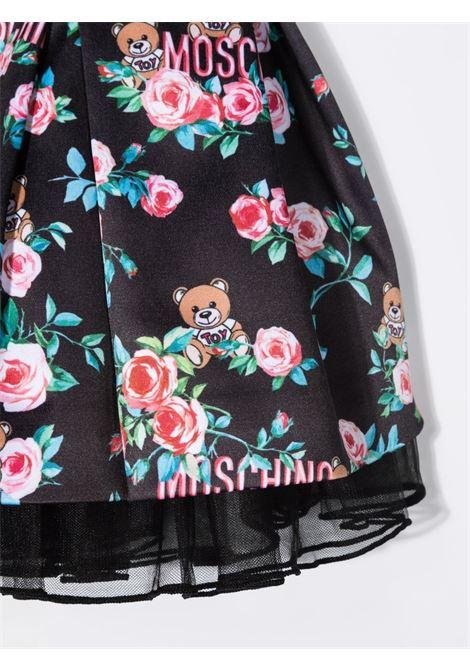 moschino abito con orsetto e fiori MOSCHINO BABY | Abito | MAV08FLRB1283346