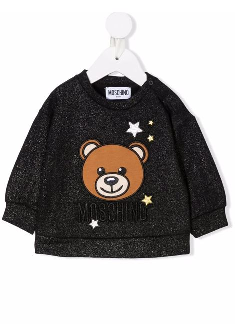 moschino felpa con orsetto e stelle MOSCHINO BABY | Felpa | MDF02BLCA2560100