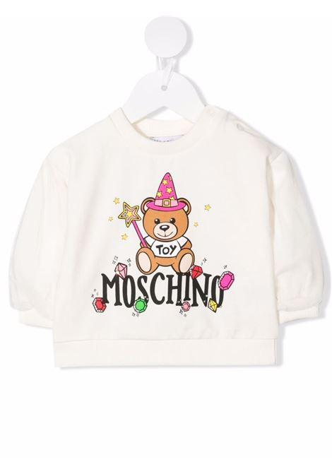 moschino felpa con orsetto magia e stelle MOSCHINO BABY | Felpa | MDF02CLDA2210063