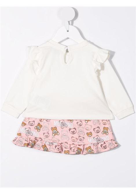 moschino tshirt con gonna all orsetti MOSCHINO BABY   Completo   MDK01ULDB7283353