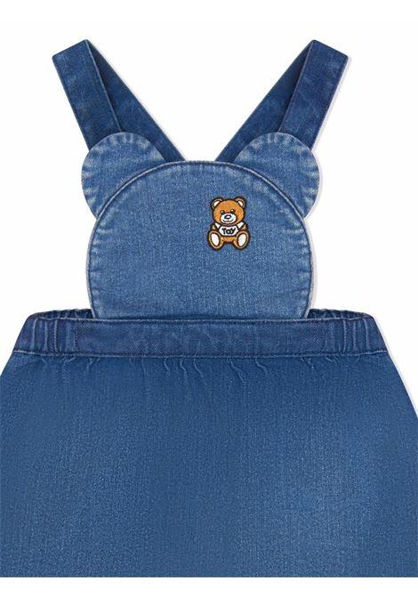 moschino salopette con tshirt stampa orsetto MOSCHINO BABY | Completo | MDK01WLDE0950209