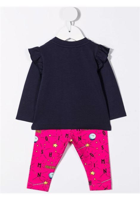 moschino tshirt con leggins stampa orsetto magia e stelle MOSCHINO BABY   Completo   MDK01XLBB7083248
