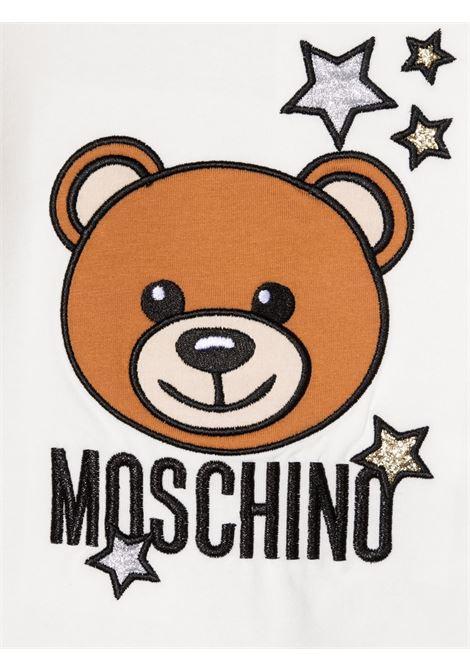 moschino tshirt ml con stampa orsetto e stelle MOSCHINO BABY | Tshirt | MDO007LBA0110063