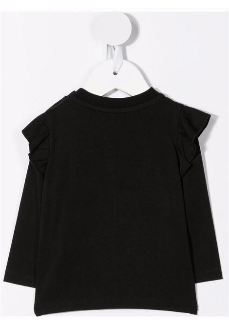 moschino tshirt ml con stampa orsetto e stelle MOSCHINO BABY | Tshirt | MDO007LBA0160100