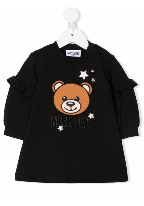 moschino abito con orsetto con stelle MOSCHINO BABY | Abito | MDV09ALDA1660100