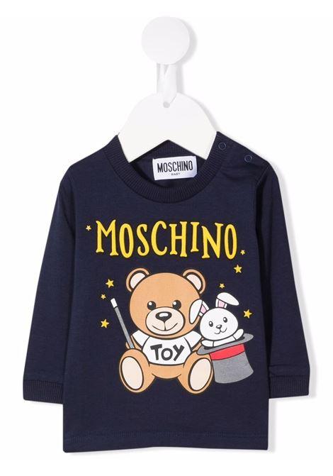moschino tshirt con stampa orsetto magia MOSCHINO BABY | Tshirt | MMO002LBA2240016