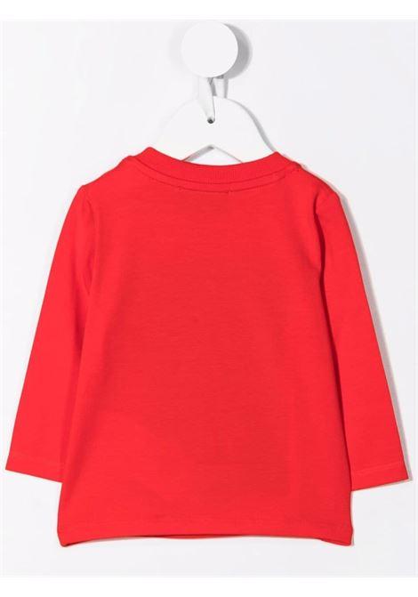 moschino tshirt con patch orsetto MOSCHINO BABY | Tshirt | MMO005LBA0150109