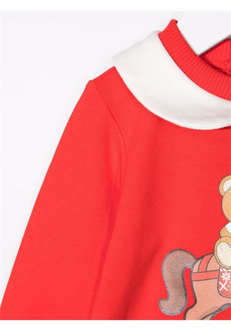 moschino tutina con bavetta e stampa orsetto con dondolo MOSCHINO BABY | Set tutina | MMY02ZLDA2250109