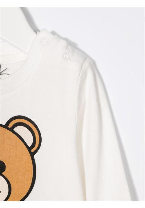 moschino tshirt manica lunga con stampa orsetto MOSCHINO BABY | Tshirt | MOO005LBA1110063
