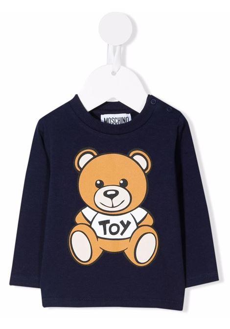 moschino tshirt manica lunga con stampa orsetto MOSCHINO BABY | Tshirt | MOO005LBA1140016