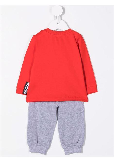 moschino pantalone con tshirt ml con stampa orsetto MOSCHINO BABY   Completo   MPK02FLBA1282554