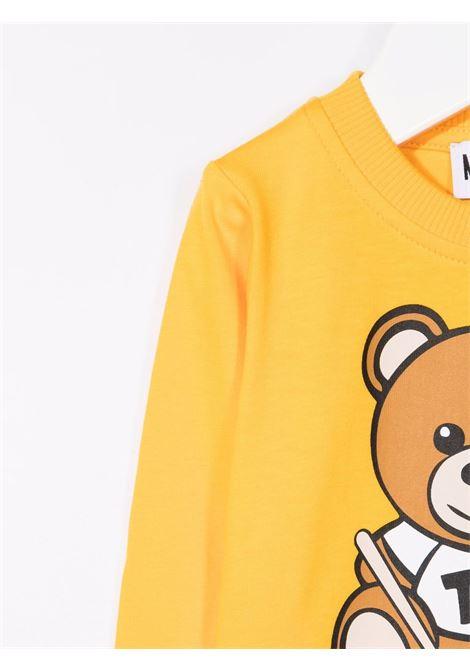 moschino tshirt con stampa orsetto con xilofono MOSCHINO BABY | Tshirt | MTO005LBA2251892