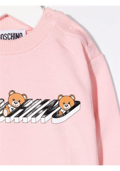 moschino felpa con stampa orsetti MOSCHINO BABY | Felpa | MUF03NLDA1850209
