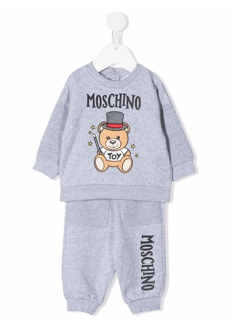 moschino felpa con pantalone con orsetto cilindro MOSCHINO BABY | Completo | MUK036LCA2060901
