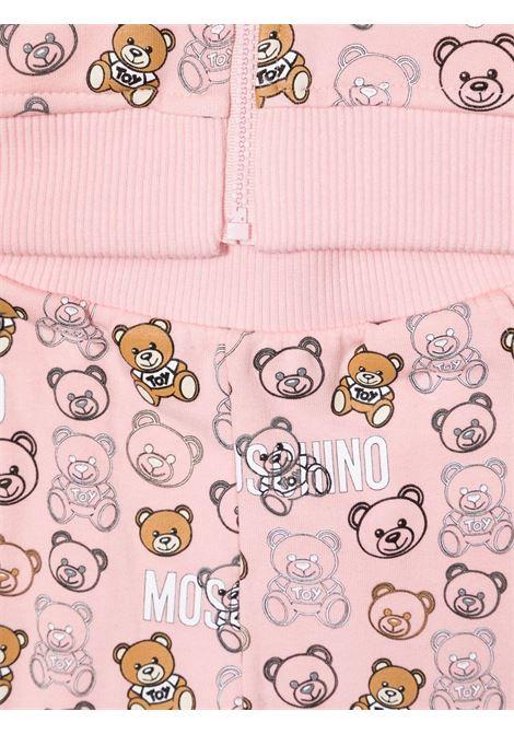 moschino pantalone con felpa  con stampa all orsetto MOSCHINO BABY   Completo   MUK037LDB7283353