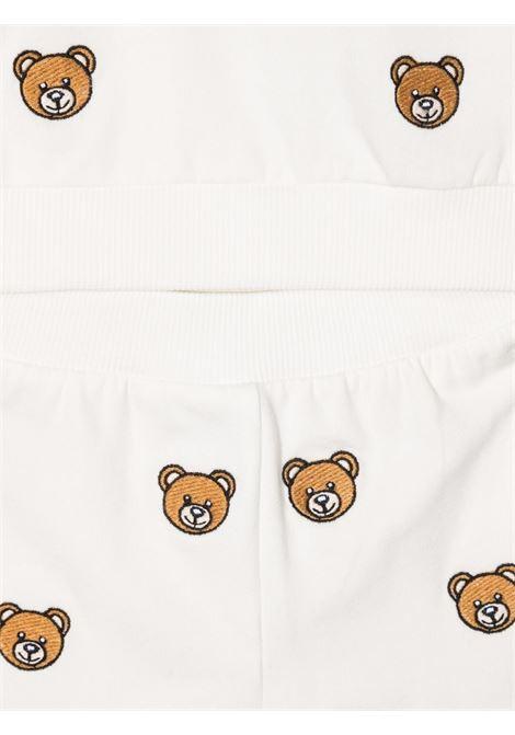 moschino pantalone con felpa  con stampa all orsetto MOSCHINO BABY   Completo   MUK038LDB7884407