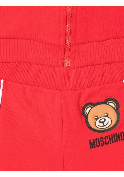 moschino felpa cappuccio con pantalone con orsetto gommato MOSCHINO BABY   Completo   MUK03BLDA1750584