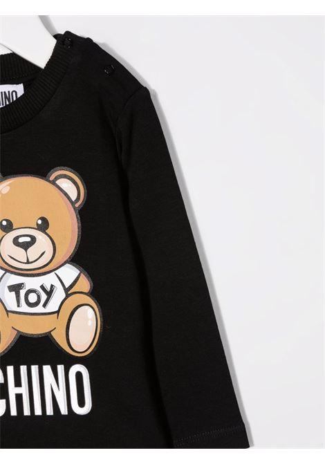 moschino tshirt con stampa orsetto e robot MOSCHINO BABY | Tshirt | MUO005LBA1160100
