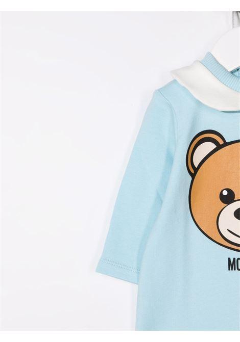 moschino tutina con stampa orsetto MOSCHINO BABY | Tutina | MUT02DLDA1440304