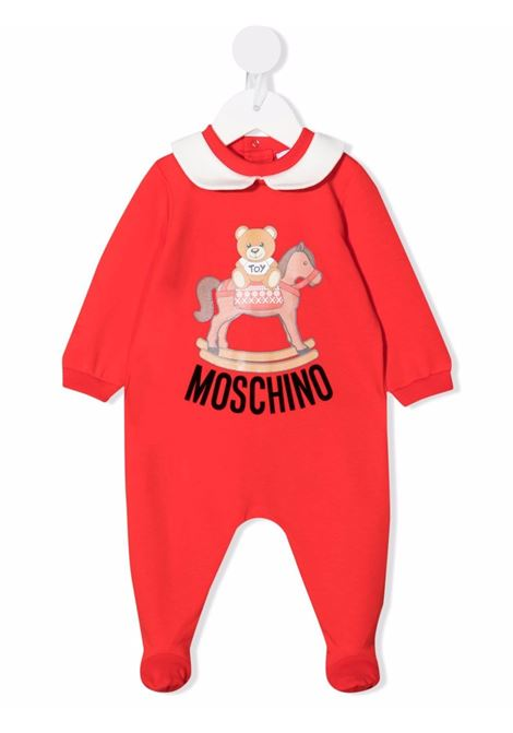 moschino tutina con stampa orsetto con dondolo MOSCHINO BABY | Tutina | MUT02ELDA2250109