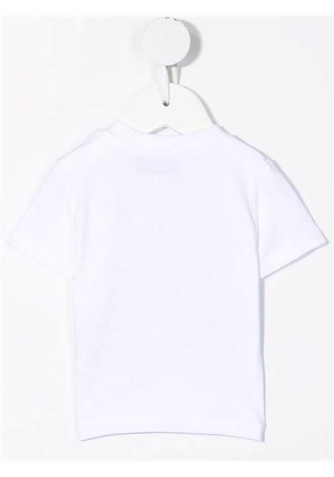 moschino tshirt con stampa orsetto e robot MOSCHINO BABY | Tshirt | MVM02ALBA1110101