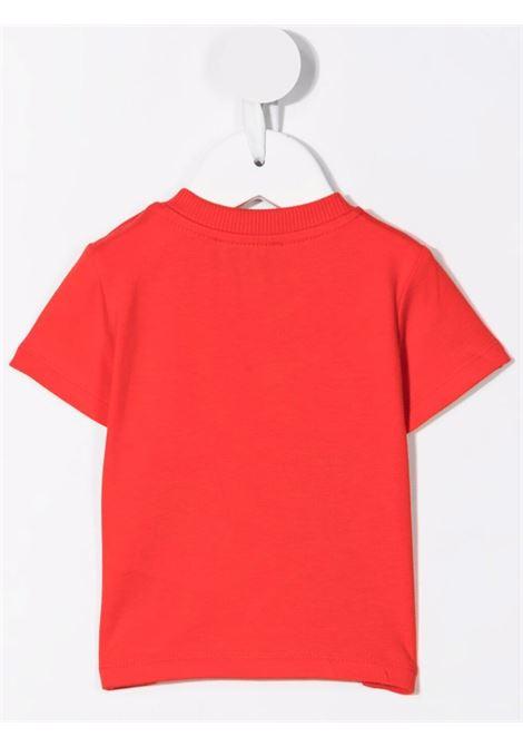 moschino tshirt con stampa orsetto e robot MOSCHINO BABY | Tshirt | MVM02ALBA1150109