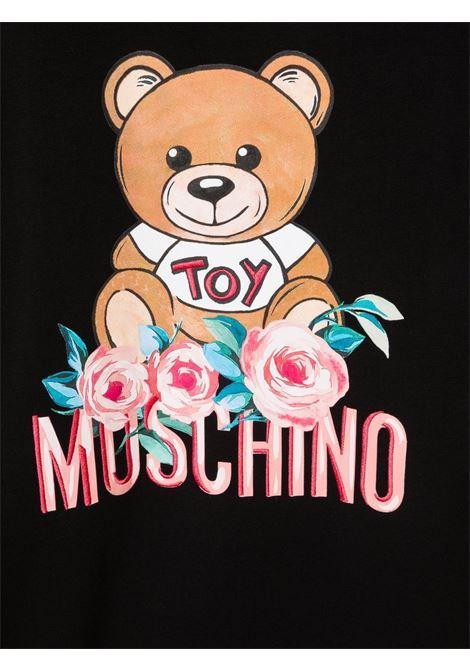 moschino abito stampa orsetto con fiori MOSCHINO KIDS | Abito | H1V064LDA1660100