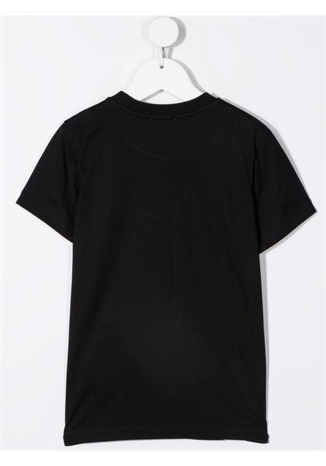 moschino kid tshirt con scritta logo multicolor MOSCHINO KIDS | Tshirt | H9M02SLAA1060100