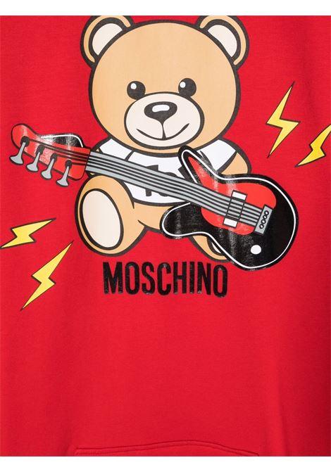 moschino abito in felpa stampa orsetto chitarra MOSCHINO KIDS | Abito | HAV09ILDA1650584