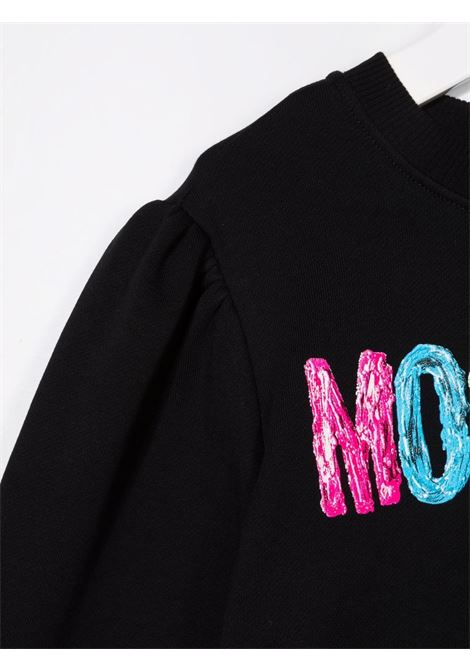 moschino kid felpa con scritta logo multicolor MOSCHINO KIDS | Felpa | HDF03JLCA2360100