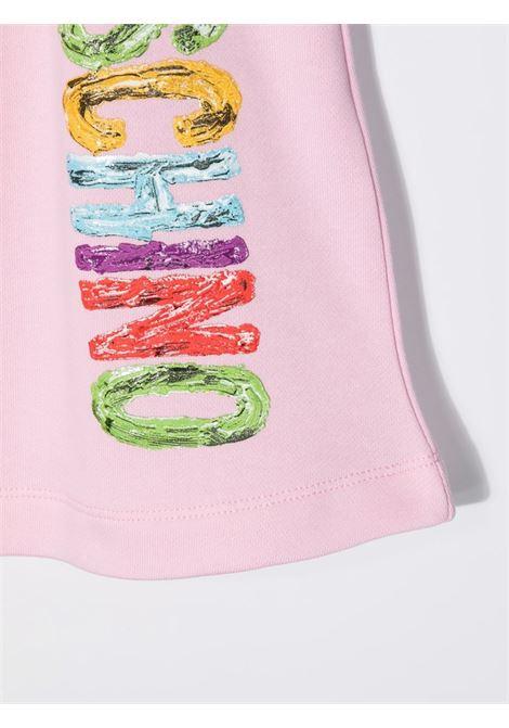 moschino kid gonna con scritta  logo multicolor MOSCHINO KIDS | Gonna | HDJ024LCA2350256