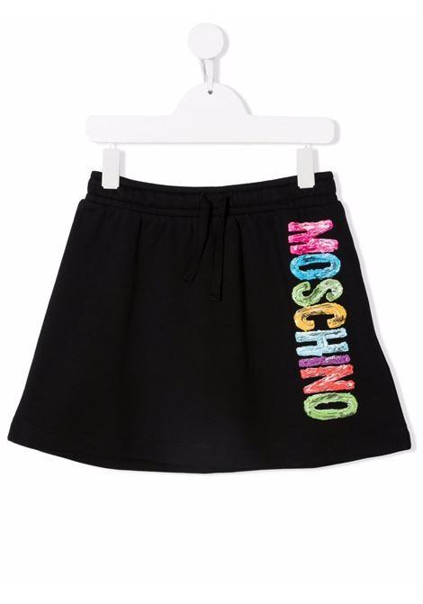 moschino kid gonna con scritta  logo multicolor MOSCHINO KIDS | Gonna | HDJ024LCA2360100